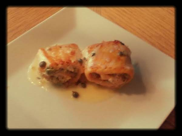 Stuffed Salmon Roll With Creamy Lemon Butter Sauce
