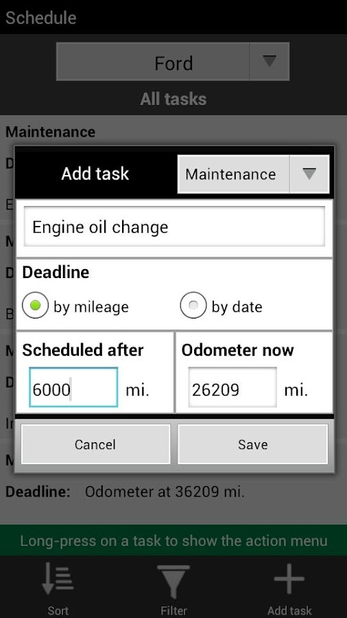 Mileage Manager Plus- screenshot