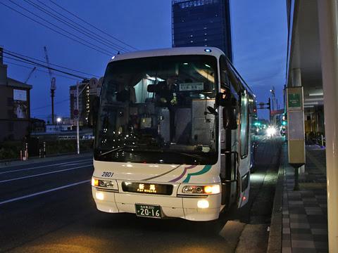 名鉄バス「名古屋~新潟線」 2801 万代シティバスセンターにて