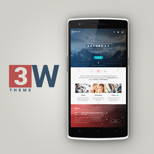 3W Theme for KLWP