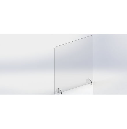 SafetyScreen plexiglass FreeStand 67x100 u/ luke
