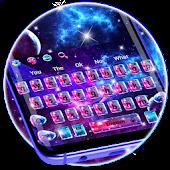 Tải Colorful Glass Galaxy Keyboard miễn phí