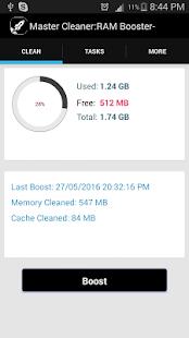 Master Cleaner : RAM Booster screenshot