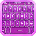 Purple Glitter Keyboard icon