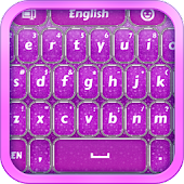 Purple Glitter Keyboard