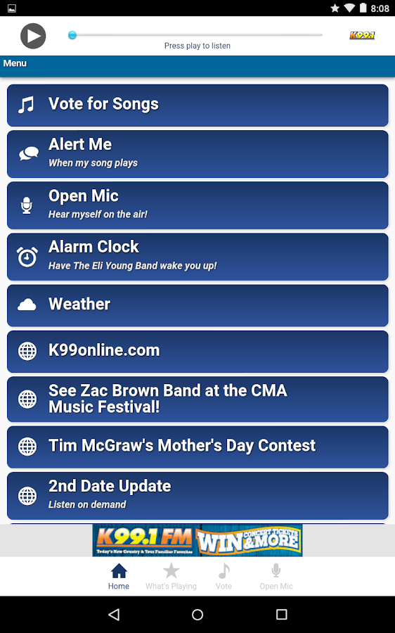 K99.1FM- screenshot