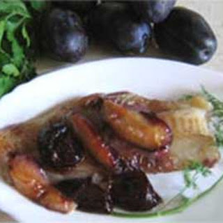 Russian Baked Pollock with Plums