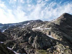 Photo: la pointe du Montcalm à Droite