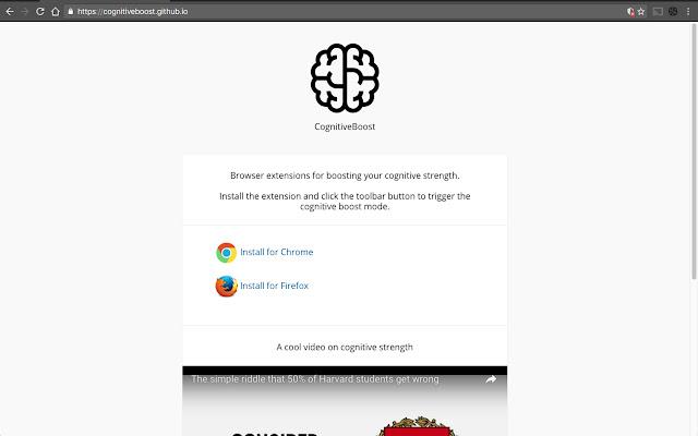 CognitiveBoost Extension
