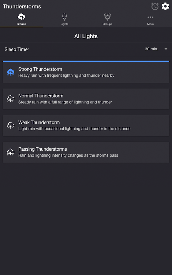 Thunderstorm for Hue- screenshot