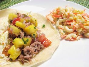 Photo: Kalua Pork Tacos & Mac Salad