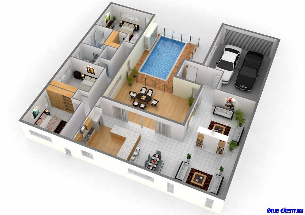 3d Home Plan Model Design Screenshot