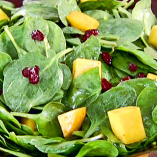 Sailor's Mango and Cranberry Spinach Salad