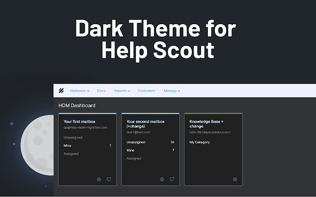 Dark Theme for Help Scout