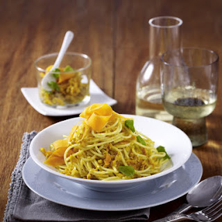Spaghetti with Carrot Pesto