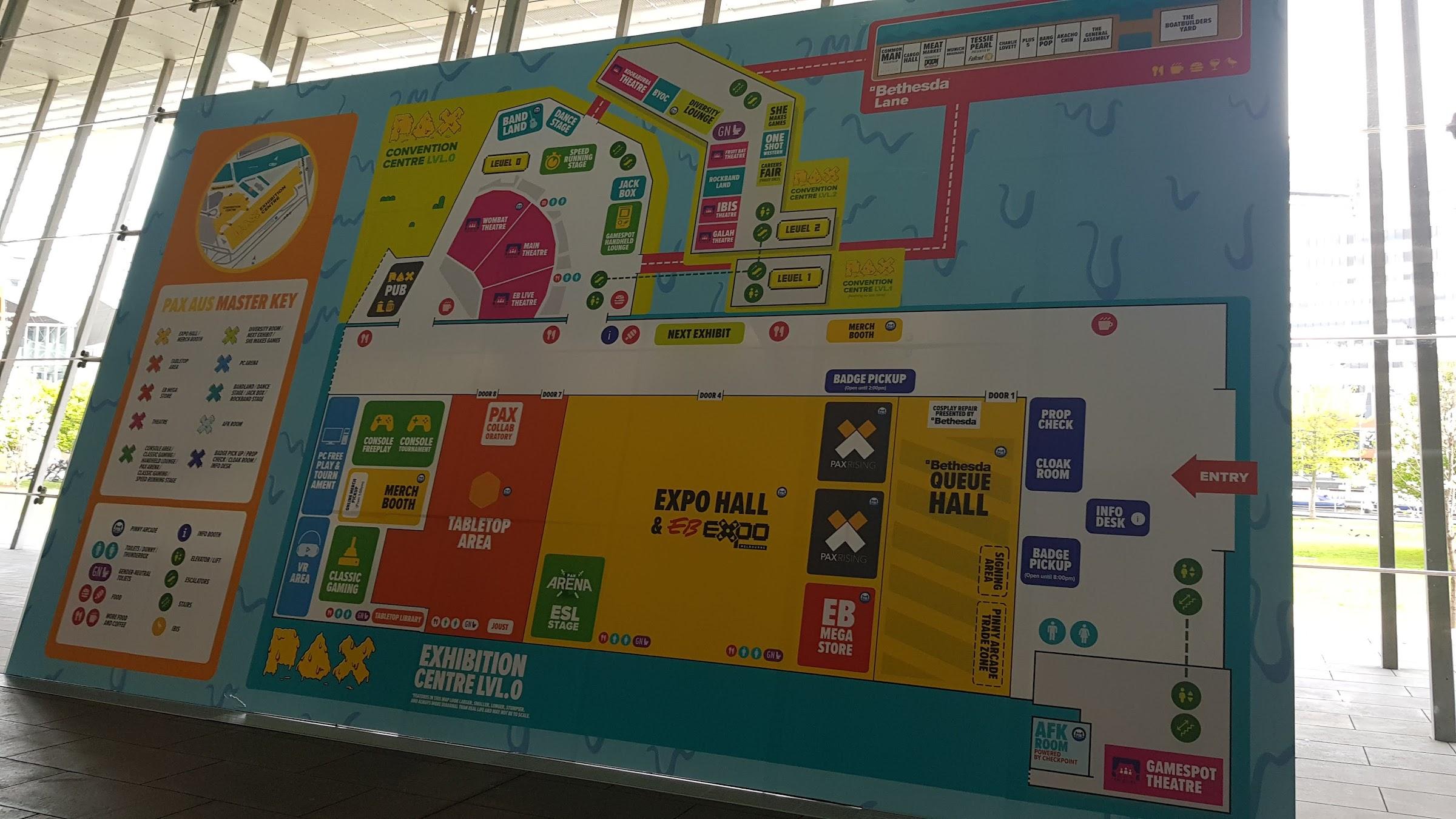 PAX map at MCEC