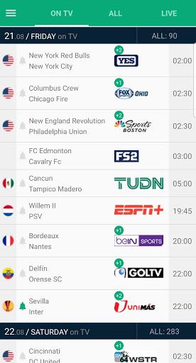 Soccer Live on TV - Telefootball 8.1.8 Screenshots 1