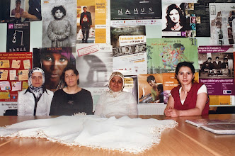 """Photo: Women from VAKAD, Kurdish Women Organisation from Van. Zelal Özgökçe, first on the right, one of the founders of VAKAD was convicted to jail as """"a member of terrorist organisation"""". She was among organizers of Van manifestation for education in Kurdish language. In 2009 she fled Turkey and lives in exile, Van 2007."""
