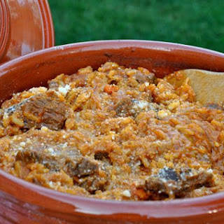 Greek Beef Stew With Orzo Pasta (Youvetsi).