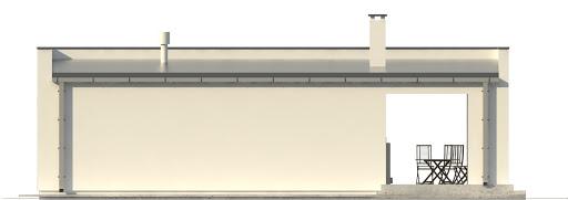 G201 - Budynek rekreacyjny z sauną - Elewacja tylna