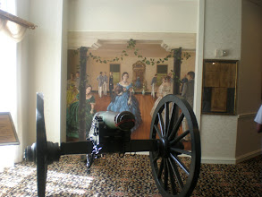 Photo: cannon in the lobby - hotel used to be the Georgia Military Institute from 1861-1865