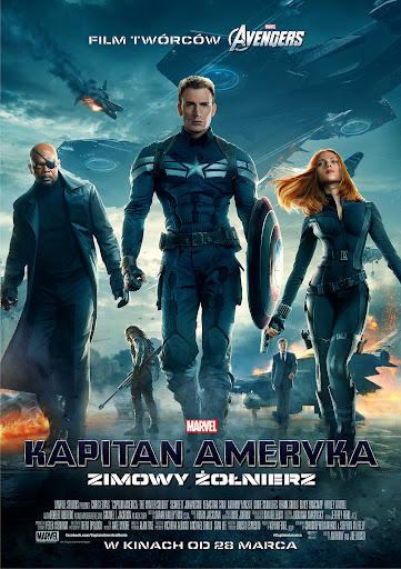 Polski plakat filmu 'Kapitan Ameryka: Zimowy Żołnierz'