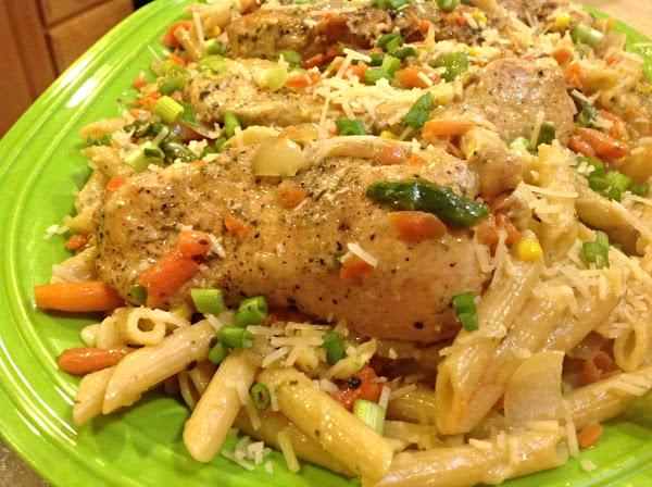 Hodge Podge Penne Pasta & Chicken Recipe