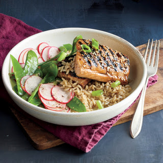 Glazed Salmon and Rice Bowl