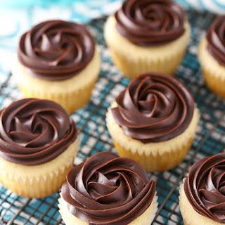 Boston Cream Pie Cupcakes.