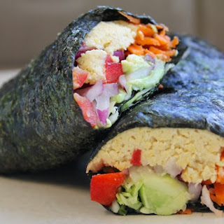 """""""California-Style"""" Vegan Sushi Rolls."""
