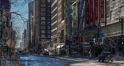 Photo: State street after a lot of snow. #chicago #urbanphotography