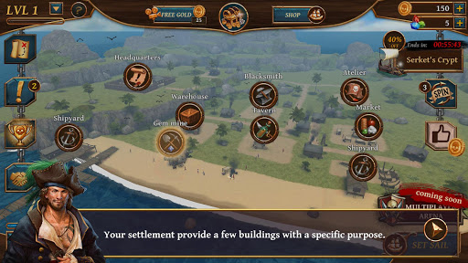 Ships of Battle - Age of Pirates - Warship Battle  screenshots 5