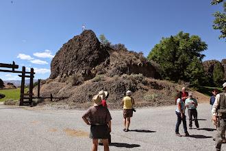 Photo: Stop 6b - Hurst Landing Road - Landslide boulder