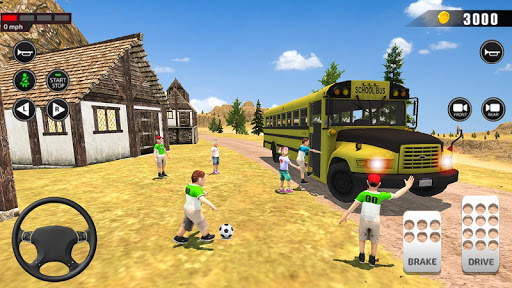 Offroad School Bus Driving: Flying Bus Games 2020 apktreat screenshots 2