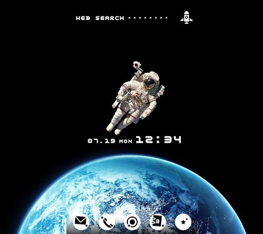 無料壁紙-Astronaut-クールなきせかえ・アイコン