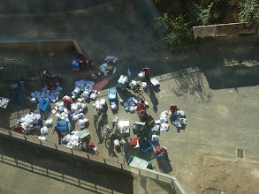 Photo: Beijing - view from new Song's place, couriers sorting packages on ground next ti building, photo taken 111001