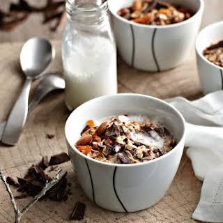 Chocolate Muesli With Warm Milk.