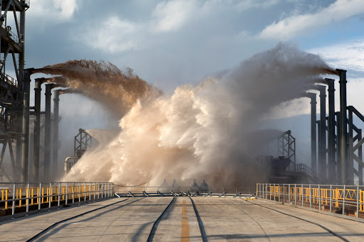SpaceX Water Deluge Test at Pad 39A