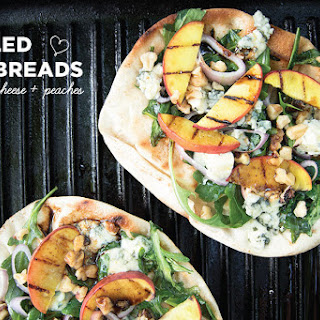 Grilled Flatbreads With Blue Cheese And Peaches