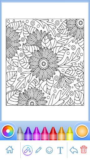 Coloring Book for Adults filehippodl screenshot 2