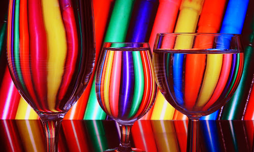 Glasses by Ana Paula Filipe - Artistic Objects Glass ( red, glass, color, blue )