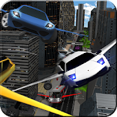 Flying Robot Cab Futuristic Transports Games