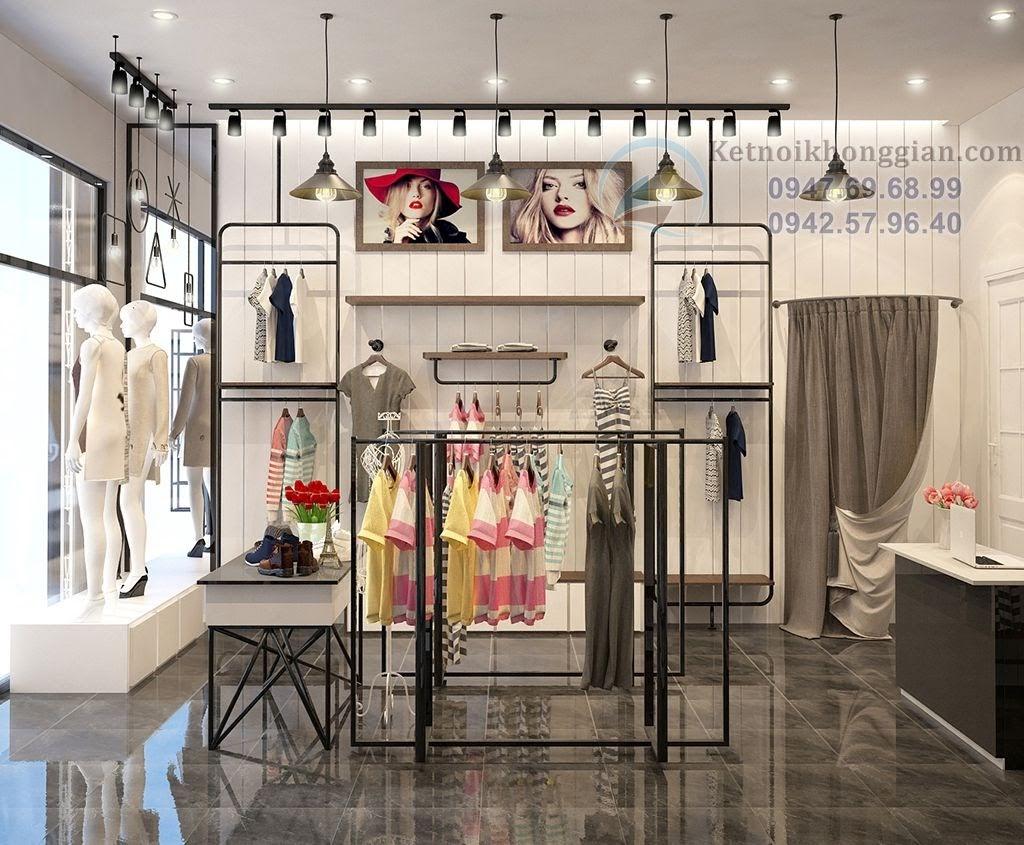 thiết kế shop thời trang nữ độc đáo, lạ mắt