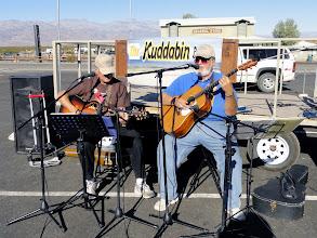Photo: Tood Maddox & Rick Hartmann, aka The Kuddabin Brothers, perform at Stovepipe Wells.
