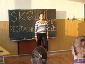 Photo: Školní kolo recitační soutěže - Katka z 2. A.
