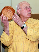 Photo: Bill noticed marks in his roughed out bowl and decided to create a pattern inside the bowl based on it.