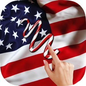 US Flag Gesture Lock Screen Icon