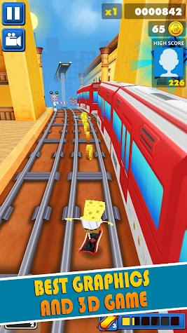 Subway Spongebob Temple Run 😍 🎈️ Screenshot