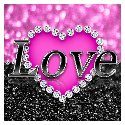 Pink Love Diamond Keyboard