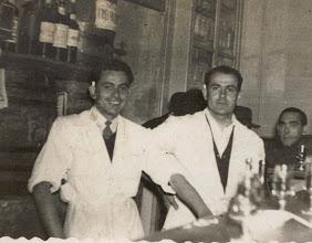 Photo: Leoncio y un amigo, 1952